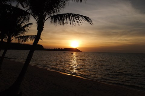 The sunsets are also not too shabby. Photo taken in or around Bang Rak Beach, Ko Samui, Thailand by Rosanne Turner.