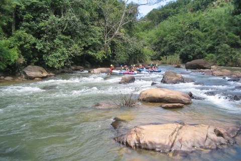 The white water rafting can be more exciting. Photo taken in or around Tubing and rafting, Pai, Thailand by Mark Ord.