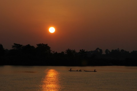 Delicious sunsets. Photo taken in or around Things to do on Don Dhet, Don Dhet, Laos by Stuart McDonald.