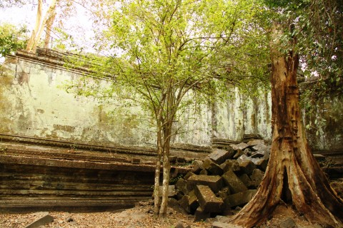 Quiet corners can be found. Photo taken in or around Beng Mealea, Angkor, Cambodia by Caroline Major.