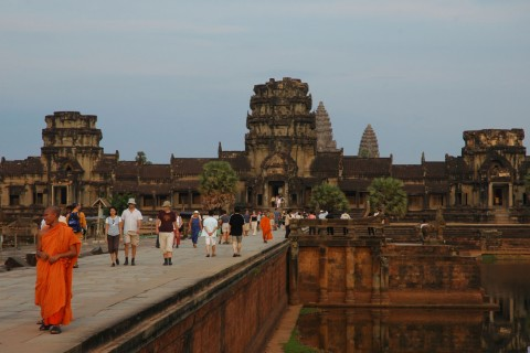 You'll be lucky to see Angkor with this few people. Photo from 2007. Photo taken in or around Angkor Wat, Angkor, Cambodia by Stuart McDonald.
