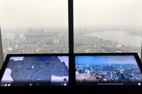 What's that over there? Photo taken in or around Lotte Tower Observation Deck, Hanoi, Vietnam by Samantha Brown.