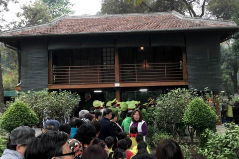 The famous House on Stilts. Photo taken in or around Presidential Palace and Ho Chi Minh's House on Stilts, Hanoi, Vietnam by Samantha Brown.