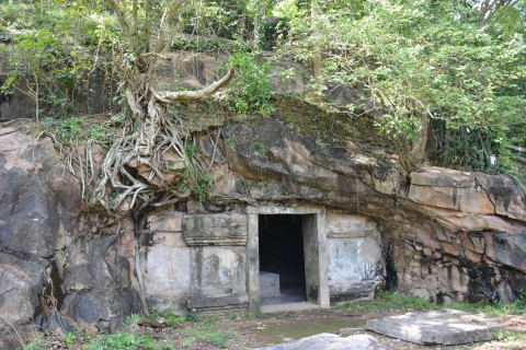 A meditation cave on the way to the summit. Photo taken in or around Phnom Da, Takeo, Cambodia by Mark Ord.
