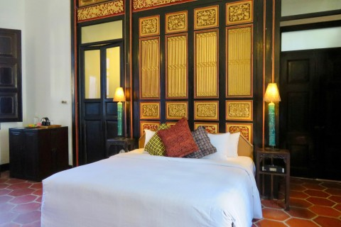 Tempting for a snooze? Photo taken in or around Cheong Fatt Tze Mansion, Penang, Malaysia by Sally Arnold.