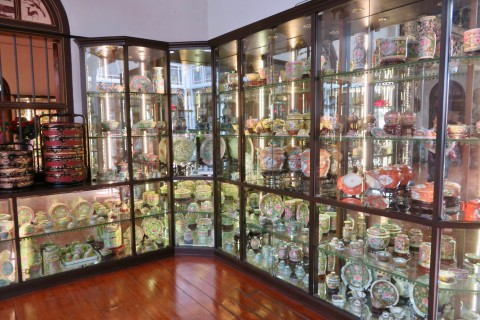 Hoarders rejoice. Photo taken in or around Pinang Peranakan Mansion, Penang, Malaysia by Sally Arnold.