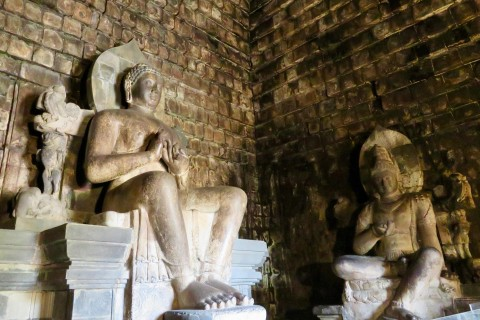Some of the best preserved and finest examples of Buddhist art in Java are at Mendut. Photo taken in or around Borobudur, Yogyakarta, Indonesia by Sally Arnold.