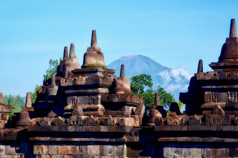 Hiring a guide will help you get the best shots, as will coming very early or later in the day. Photo taken in or around Borobudur, Yogyakarta, Indonesia by Sally Arnold.