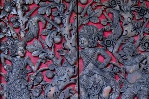 A shutter detail at Museum Le Mayeur. Photo taken in or around Museum Le Mayeur, Sanur, Indonesia by Sally Arnold.