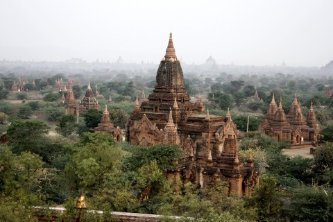 Sulamani, famed for its frescoes. Photo taken in or around Central Plains of Bagan, Bagan, Burma_myanmar by Mark Ord.