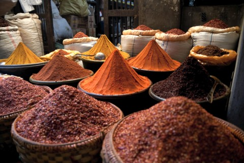 Spicy photos are for the taking at Mandalay's markets. Photo taken in or around Great photography spots, Mandalay, Burma_myanmar by Christopher Smith.