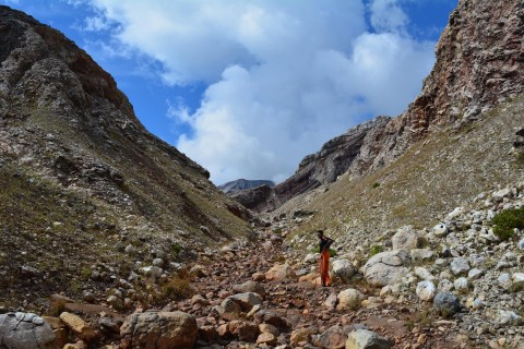 The pass into the crater. Photo taken in or around Gunung Sirung, Pantar, Indonesia by Stuart McDonald.