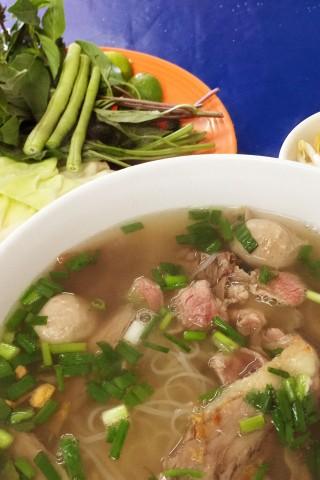 Noodle soup in Vientiane