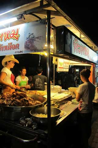 Chiang Mai late-night market eats