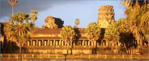 Angkor in setting light
