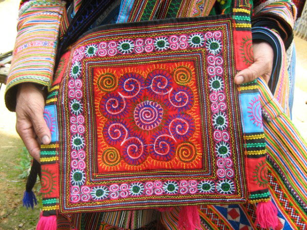 Fabric for sale at Bac Ha