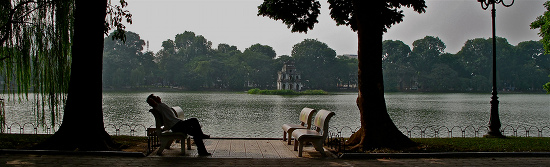 Lazy days by the lakeside, Hanoi