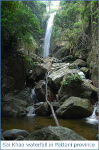 Sai Khao waterfall in Pattani province