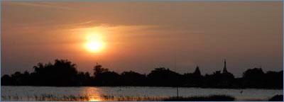 Sunset in Ban Lan Khe, Ayutthaya