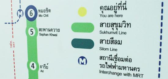 Bangkok BTS skytrain route map