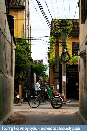 Touring Hoi An by cyclo -- explore at a leisurely pace