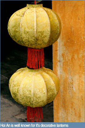 Hoi An is well known for it's decorative lanterns