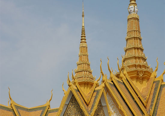 The spires of the Royal Palace in Phnom Penh