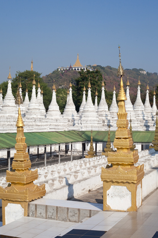 Kuthodaw Pagoda and Sandamuni Pagoda