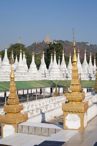 Kuthodaw Pagoda and Sandamuni Pagoda