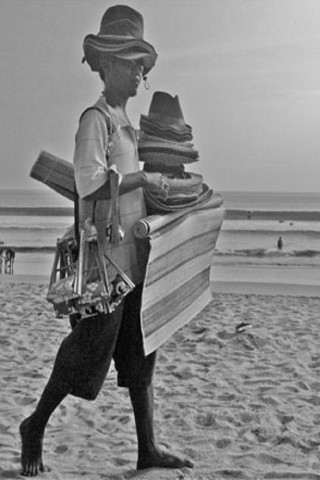 The hassle on Kuta beach, Bali