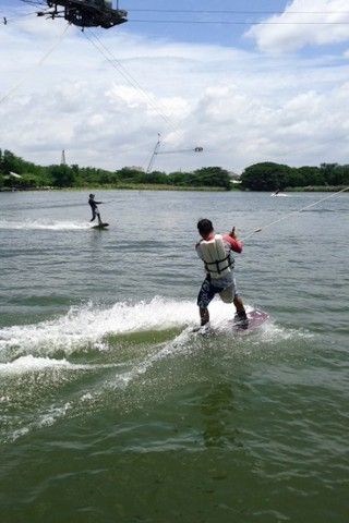 Wakeboarding at Lake Taco