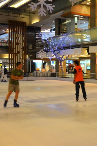 Ice skating at Central World
