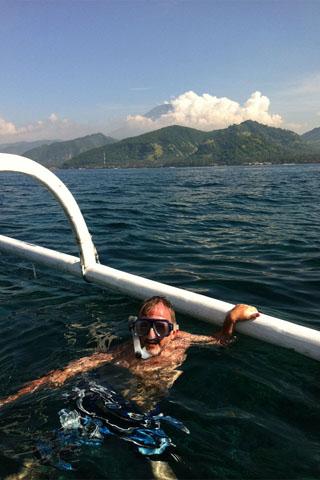 Snorkelling at Candi Dasa