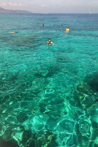 Snorkelling on Gili Meno