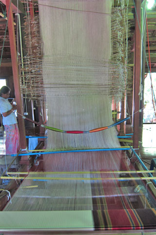 Photo of Baan Tha Sawang silk weaving village