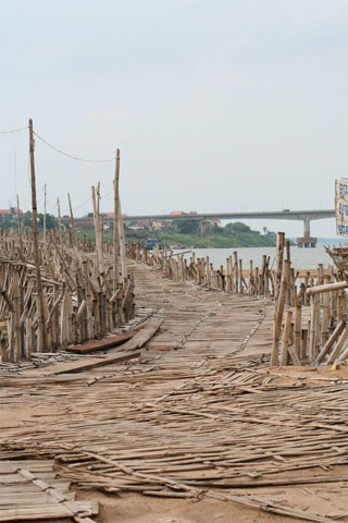The bamboo bridge and Koh Pen