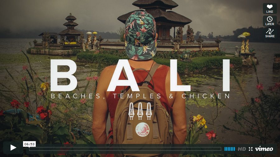 View BALI; Temples, beaches and chicken on Vimeo