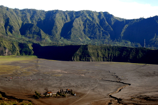 The caldera rim where many hotels are located in Cemoro Lawang