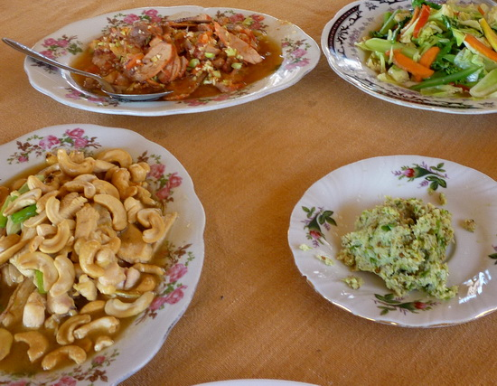 Veg in oyster sauce, sweet and sour pork, chicken with cashews; could be anywhere in Asia really.