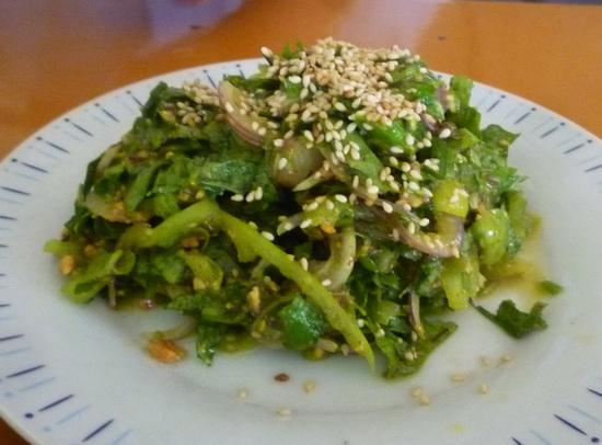 Pennyworth and sesame salad
