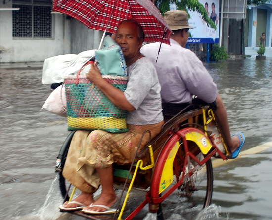 Less than ideal conditions - floods in Mandalay
