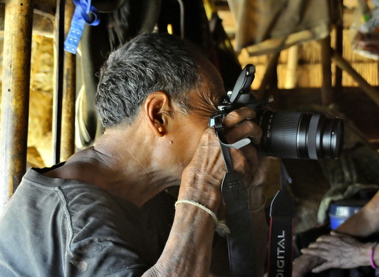 Enn shaman working some magic with a Nikon
