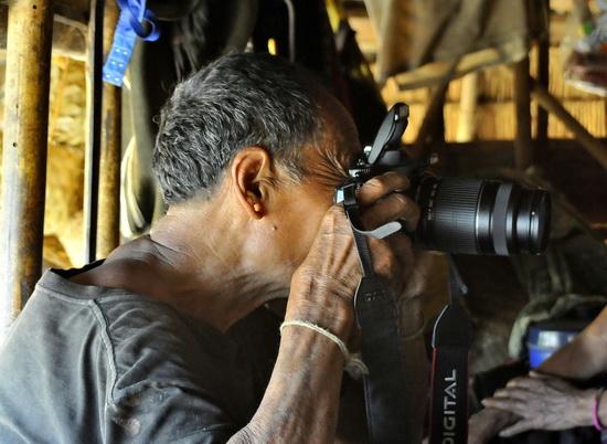 Enn shaman working some magic with a Nikon