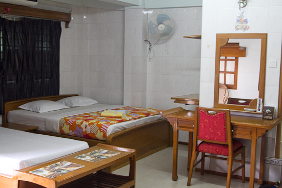 Chan Myaye's Superior room is superior to most budget accommodations across Yangon.