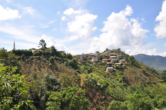 Lunch at a hilltop village sounds great - until you have to climb the hill.