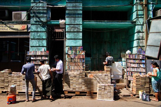 Most vendors don't even need shelves, they use book stacks.