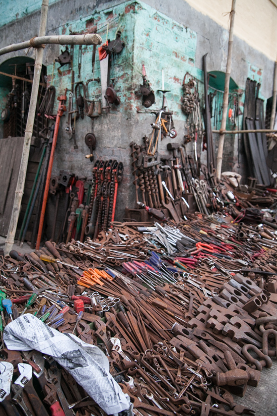 A street side hardware store - stumbled across during our downtown Yangon walk.