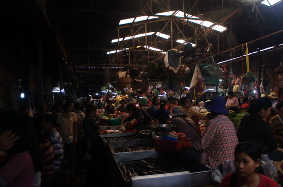 Siem Reap's principal wet market in the heart of Old Market