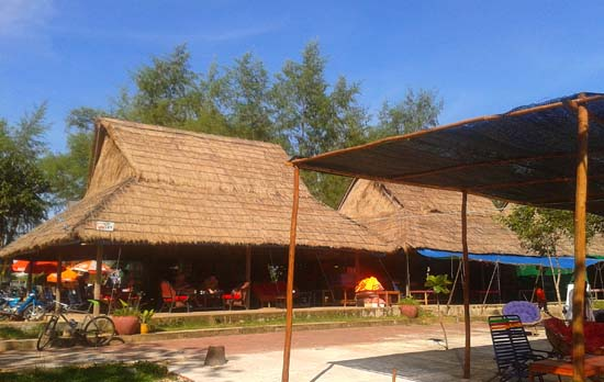 The Small Beach Bar at Independence Beach, Sihanoukville Cambodia