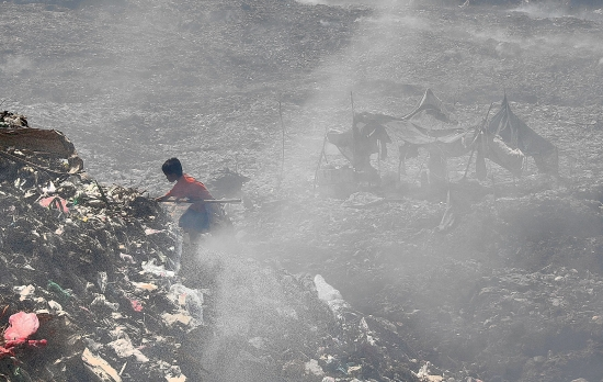 Living and working at the dump is a hazardous way of life